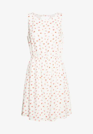 PRINTED DRESS WITH BACK STRAP - Denní šaty - white