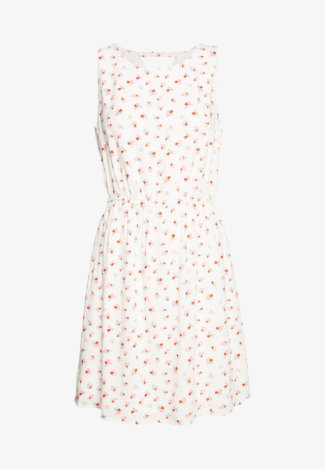 PRINTED DRESS WITH BACK STRAP - Robe d'été - white