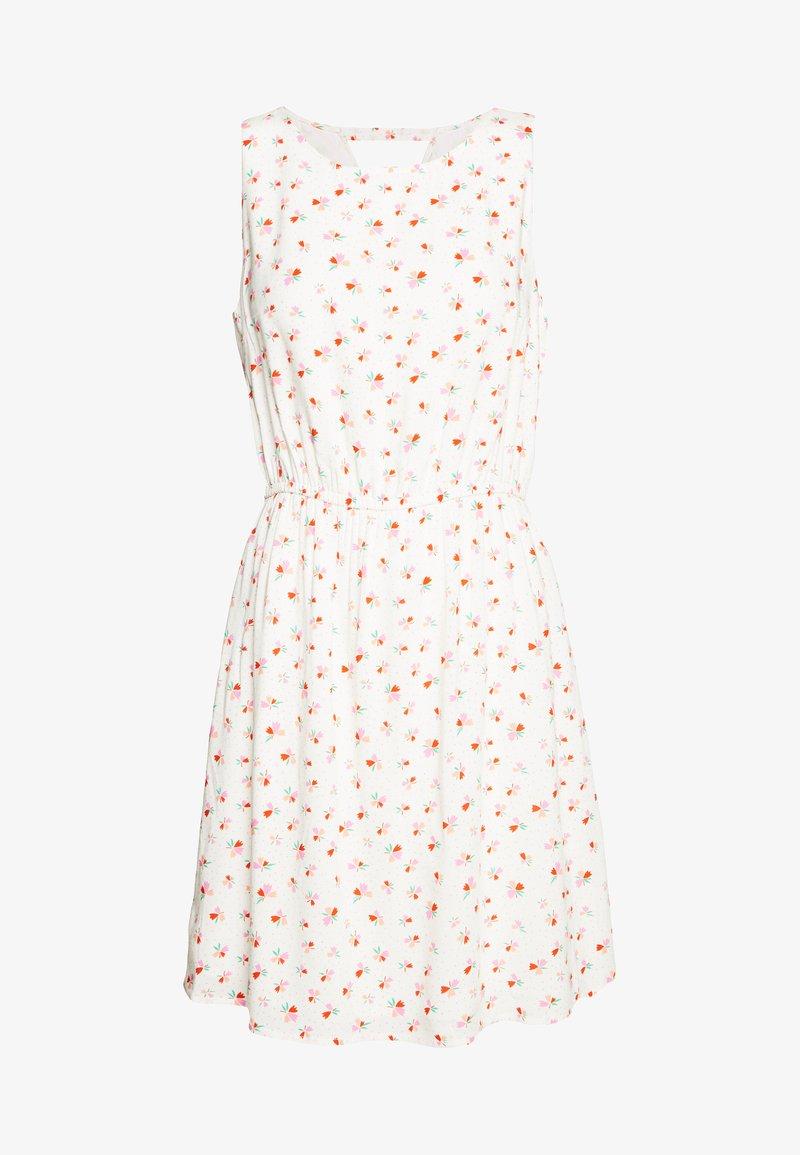 TOM TAILOR DENIM - PRINTED DRESS WITH BACK STRAP - Day dress - white