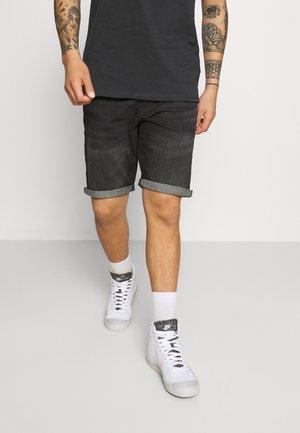 LODGER - Denim shorts - black used