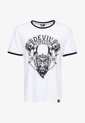 SPEED DEVIL - T-shirt print - weiß