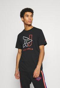 Jordan - BRAND CREW - Print T-shirt - black - 0