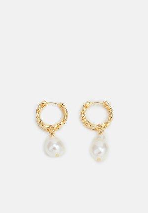 DROP CHAIN HUGGIE HOOPS - Earrings - gold-coloured