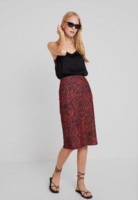 Anna Field - A-line skirt - burnt henna - 1