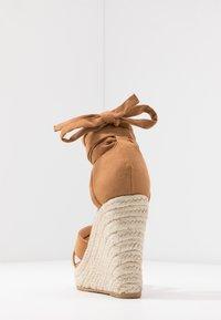 Even&Odd Wide Fit - Korolliset sandaalit - cognac - 5