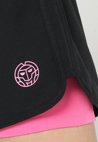 BIDI BADU - RAVEN TECH  SHORTS 2-IN-1 - Sports shorts - black/pink - 6