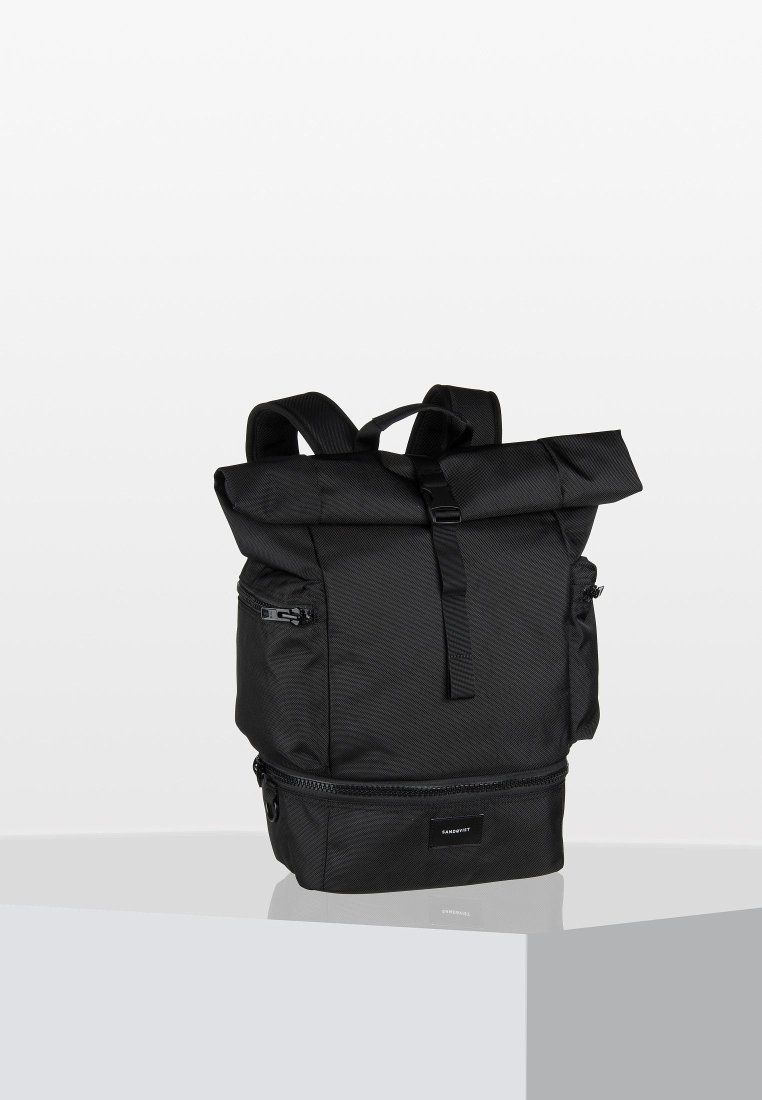 Sandqvist - VERNER ROLLTOP BACKPACK - Batoh - black