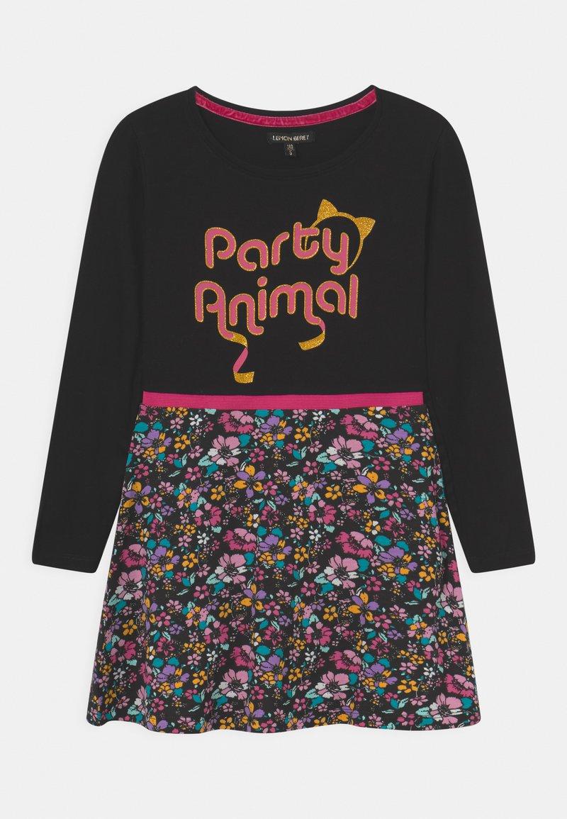Lemon Beret - SMALL GIRLS DRESS - Jersey dress - black