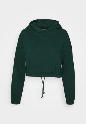 Croppped Loose Fit Hoodie - Hoodie - evergreen