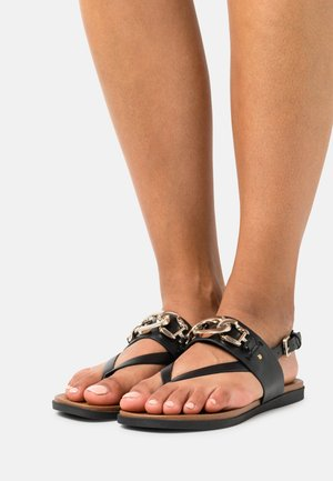 VEGAN TOPAZ - T-bar sandals - black