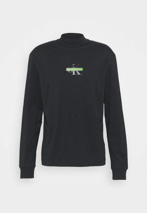 CENSORED MOCK NECK - Long sleeved top - black