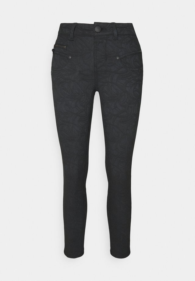 ALEXA CROPPED CONCORD - Trousers - black