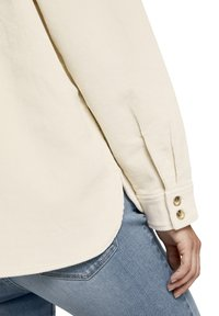 TOM TAILOR DENIM - Button-down blouse - soft creme beige - 5