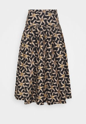 PRINTED VOLUMINOUS TIERED SKIRT - Áčková sukně - brown/beige