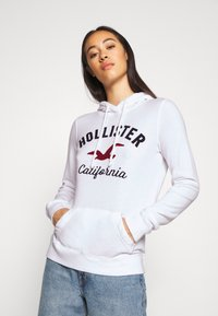 Hollister Co. - TERRY TECH CORE - Hoodie - white - 3