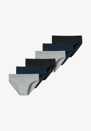 6ER PACK - Slip - schwarz / blau / grau