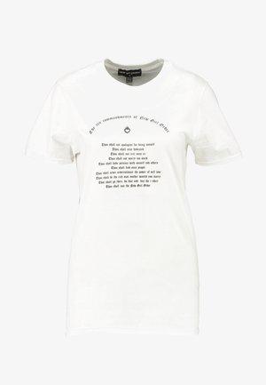 TEN COMMANDMENTS TEE - T-Shirt print - white
