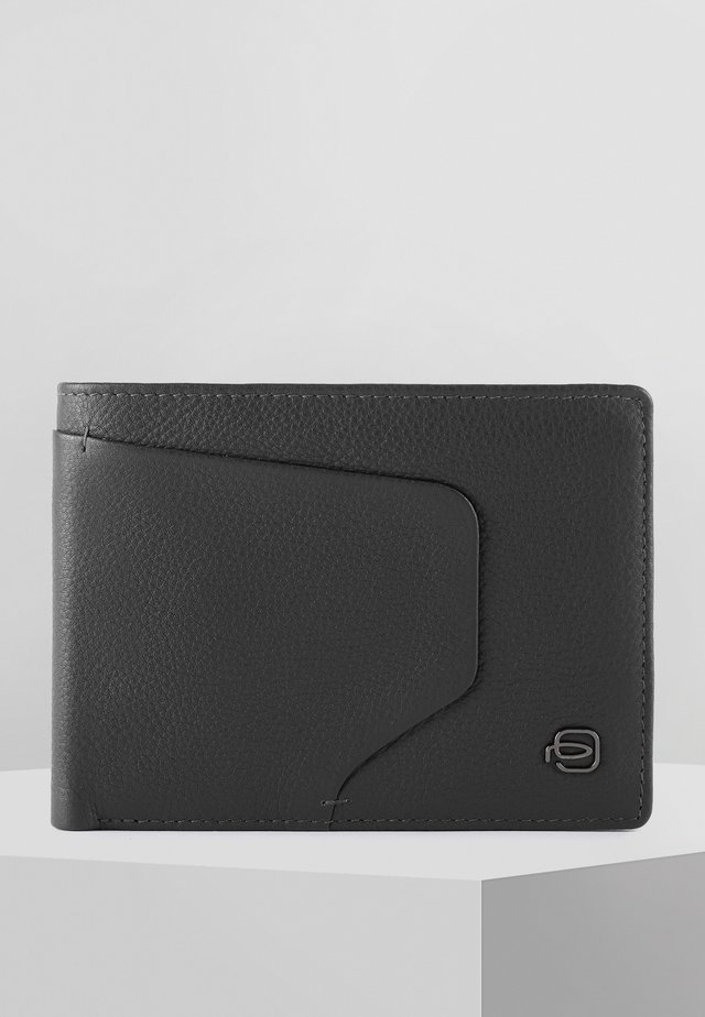 PIQUADRO AKRON GELDBÖRSE RFID LEDER 13 CM - Geldbörse - black