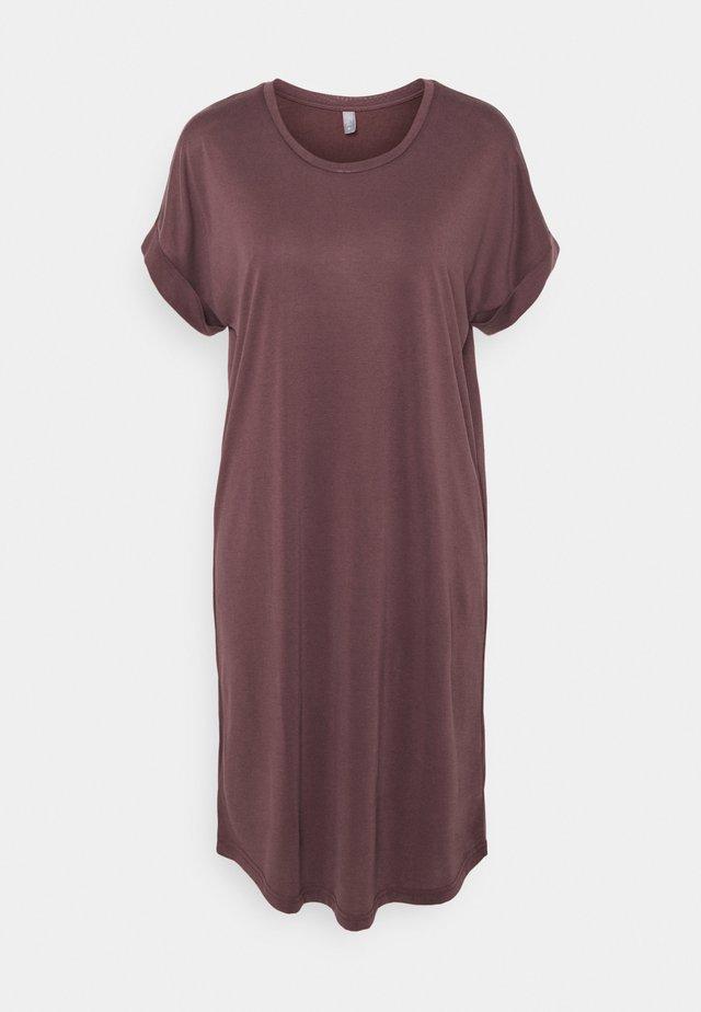 KAJSA  DRESS - Jersey dress - bitter chocolate