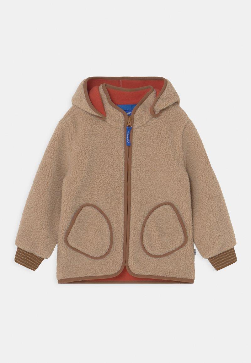 Finkid - TONTTU NALLE UNISEX - Fleece jacket - pebble/cinnamon