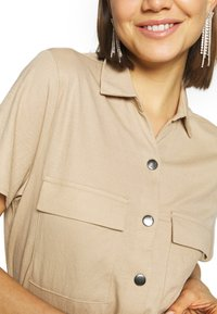 Vila - Košilové šaty - beige - 6