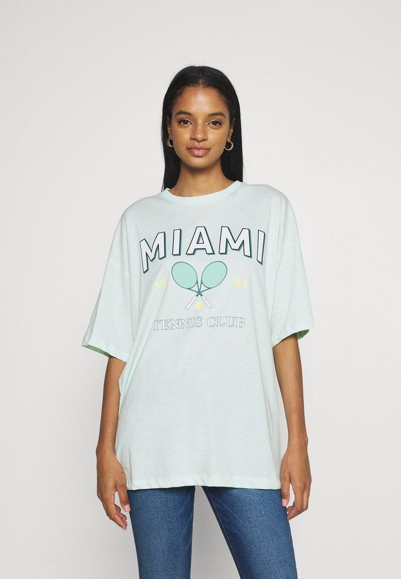Even&Odd - Print T-shirt - light blue