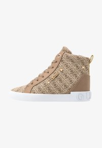Guess - PORTLY - Sneaker high - beige/brown - 1