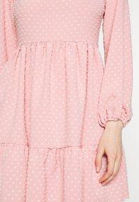 Closet - HIGH COLLAR MINI DRESS - Day dress - blush - 6