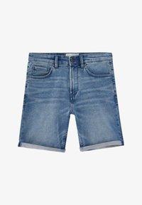 PULL&BEAR - Denim shorts - mottled blue - 6