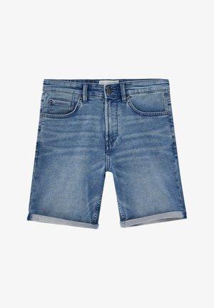 Shorts di jeans - mottled blue