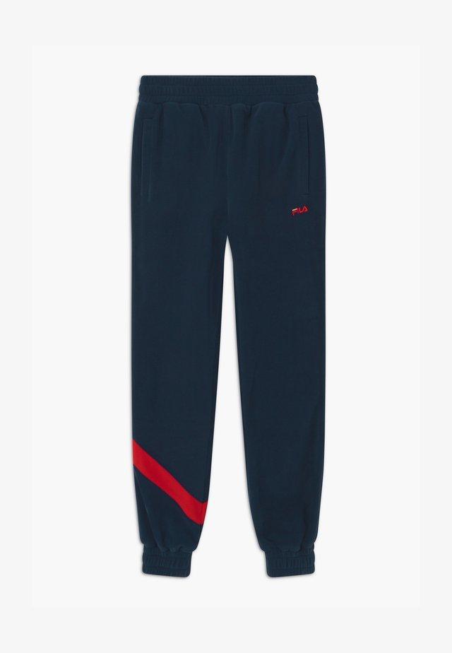 ROBERTO - Teplákové kalhoty - black iris/true red