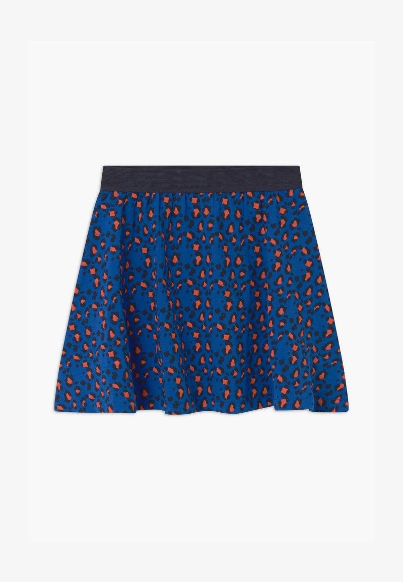 Lemon Beret - SMALL GIRLS - A-line skirt - olympian blue