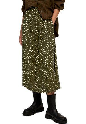 LENZING ECOVERO - A-line skirt - multi/burnished logs