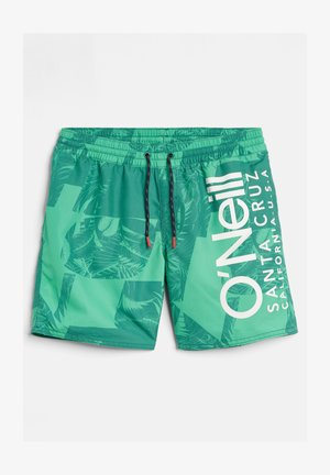 CALI FLORAL - Swimming shorts - green with