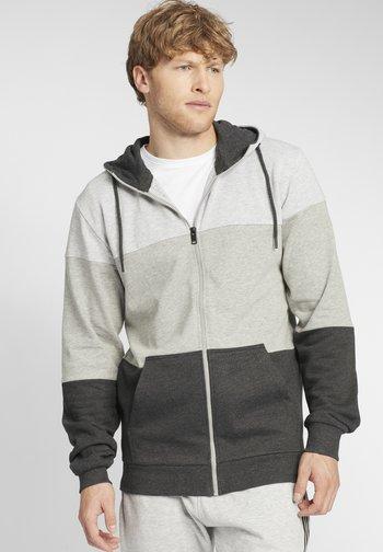 GLORIO - Zip-up sweatshirt - light grey melange