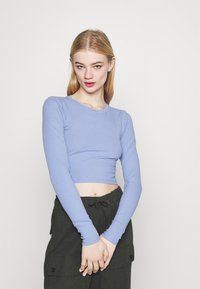 Monki - Camiseta de manga larga - blue light/beige - 3
