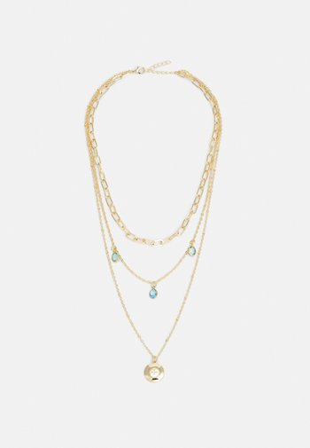 ONLSOFIA NECKLACE - Necklace - gold-coloured/soft blue