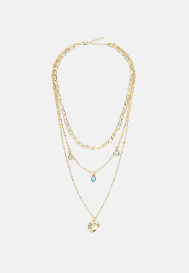 ONLSOFIA NECKLACE - Necklace - gold-coloured/soft blue