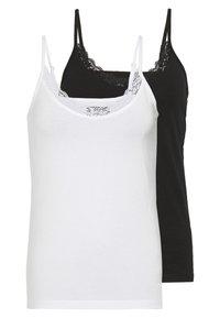 Even&Odd - 2 PACK - Top - white/black - 0