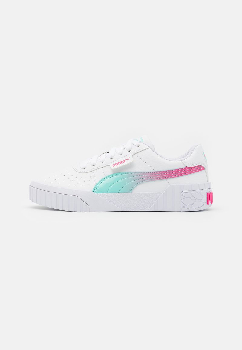 Puma - CALI SPACE JR UNISEX  - Trainers - white/aruba blue