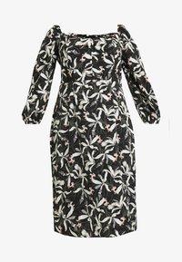 Glamorous Curve - ORIENTAL FLORAL MILKMAID DRESS - Day dress - oriental - 5