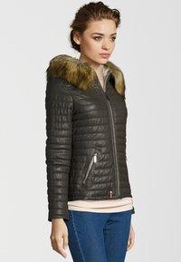 Oakwood - Leather jacket - khaki - 2