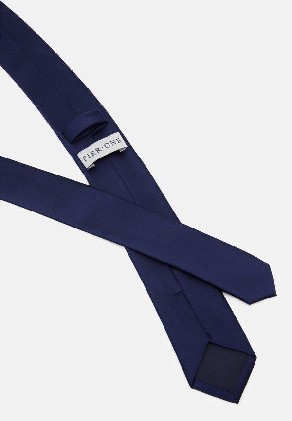 Pier One Krawat - dark blue/granatowy Odzież Męska LMSN