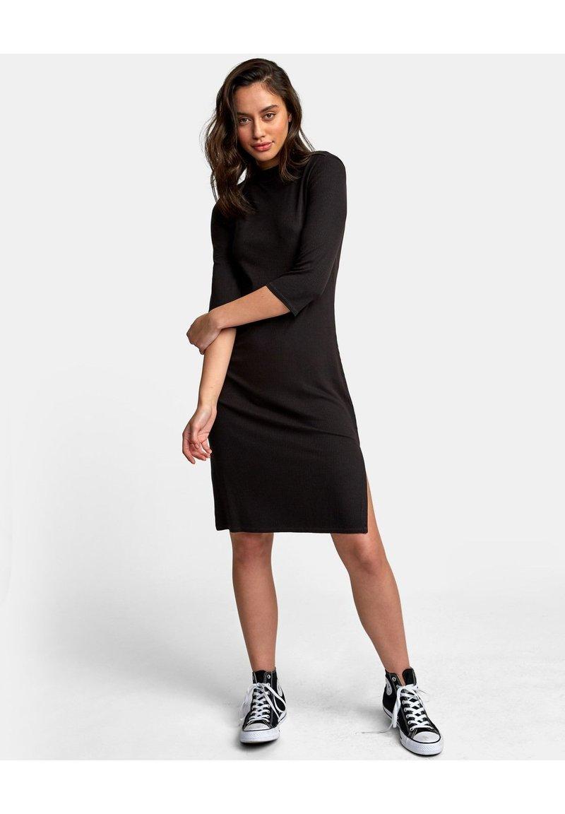 RVCA - Gebreide jurk - black