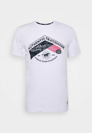 ALEX C - Print T-shirt - white