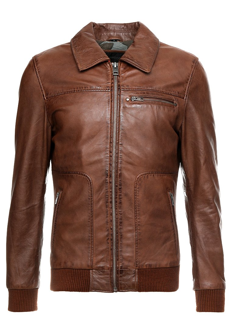 Oakwood BILLY Leren jas brown Zalando.nl