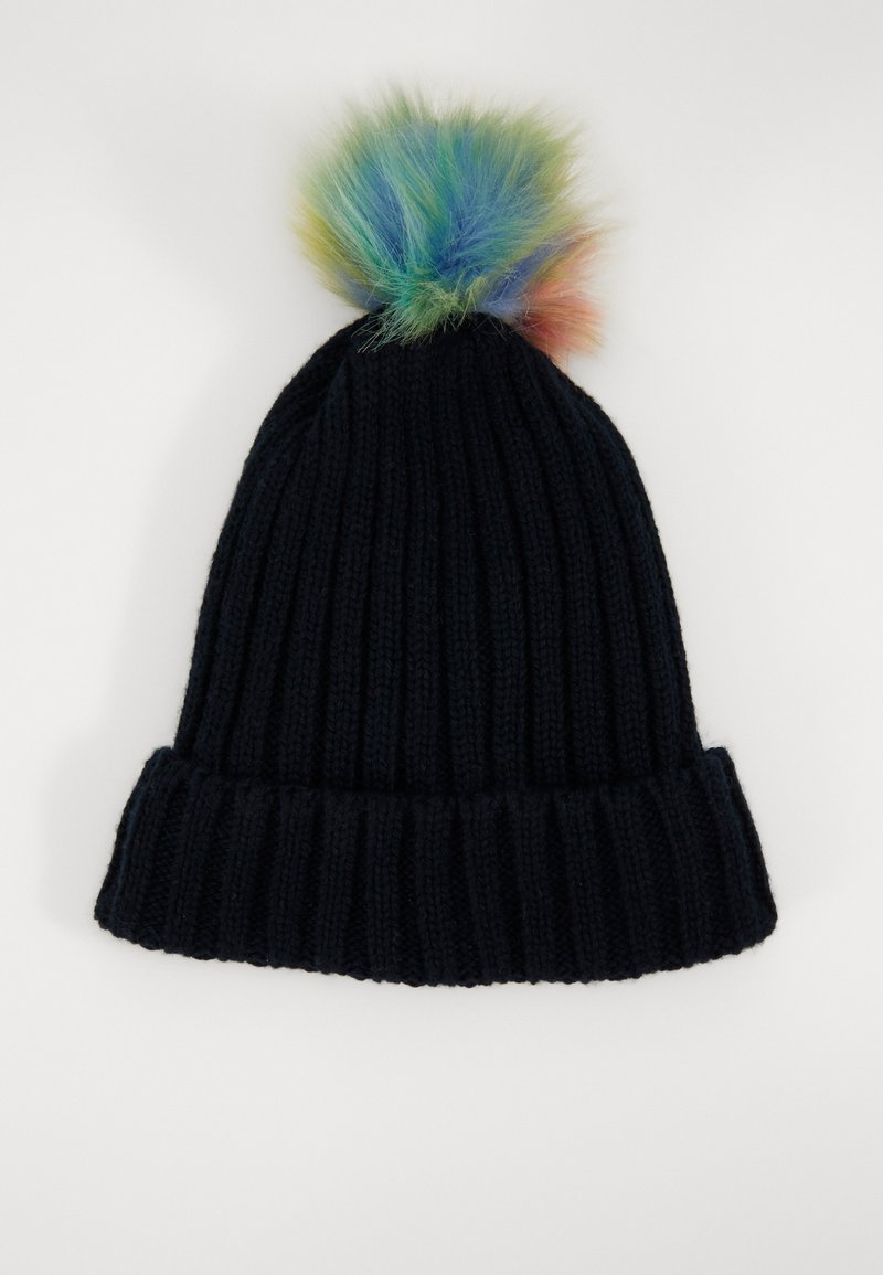 Maximo - KIDS GIRL MIT UMSCHLAG - Beanie - navy/multicolor
