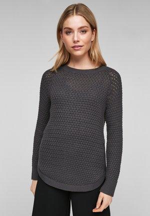 Jumper - dark grey knit