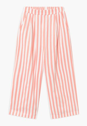 ALO  Croped - Trousers - coral/white