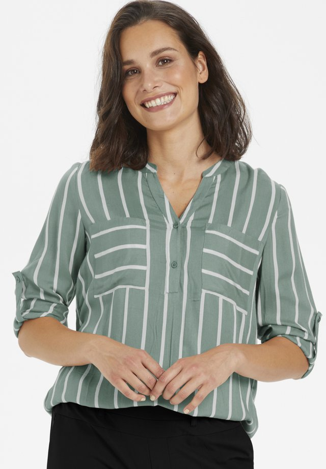 KABABARA - Blouse - iceberg green/chalk stripe